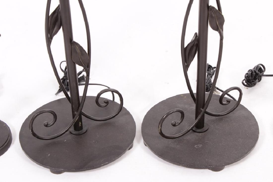 """4 """"Quoizel"""" Steel Floor Lamps,20th C. - 4"""