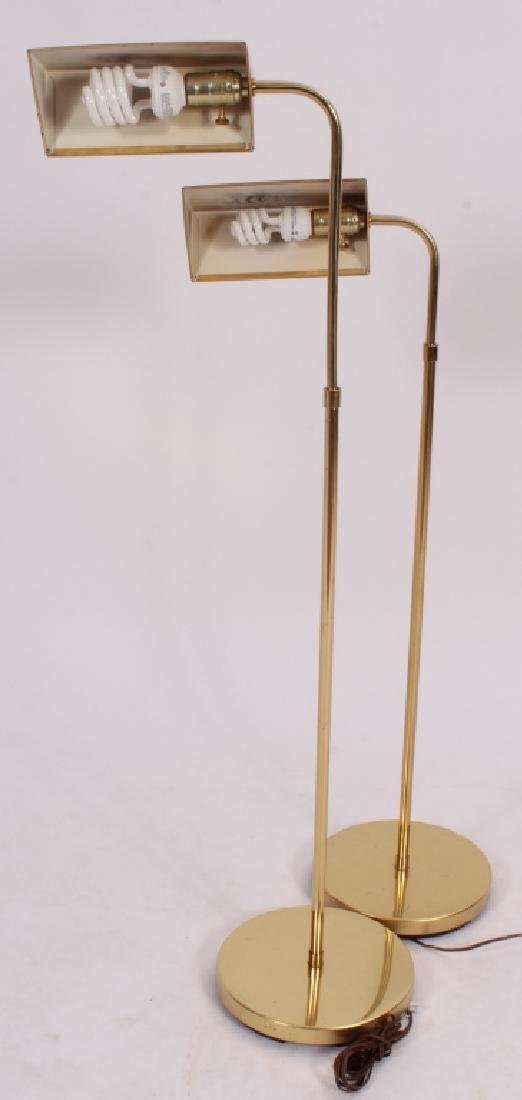 Pr. of Mid Century Modern Brass Floor Lamps,20th C