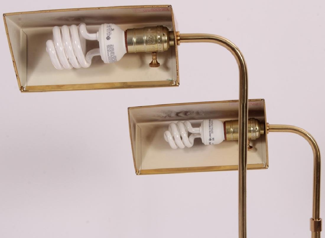 Pr. of Mid Century Modern Brass Floor Lamps,20th C - 2