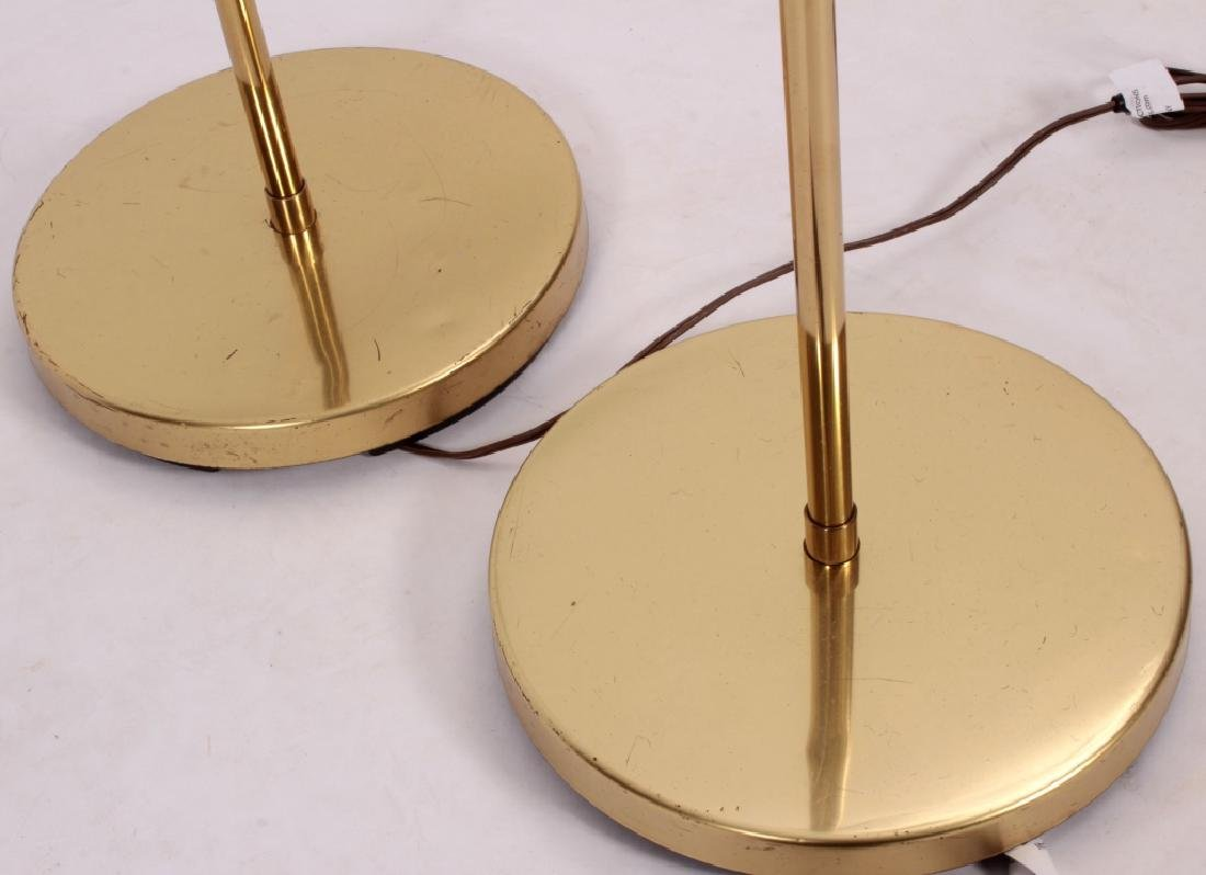 Pr. of Mid Century Modern Brass Floor Lamps,20th C - 4