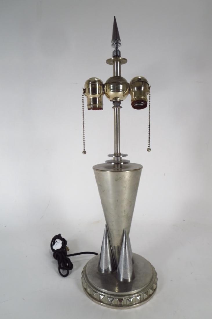 Modern chrome table lamp
