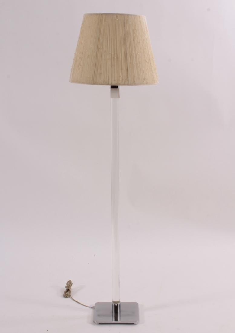 Hansen Stainless Steel/Glass Floor Lamp, c.1960's