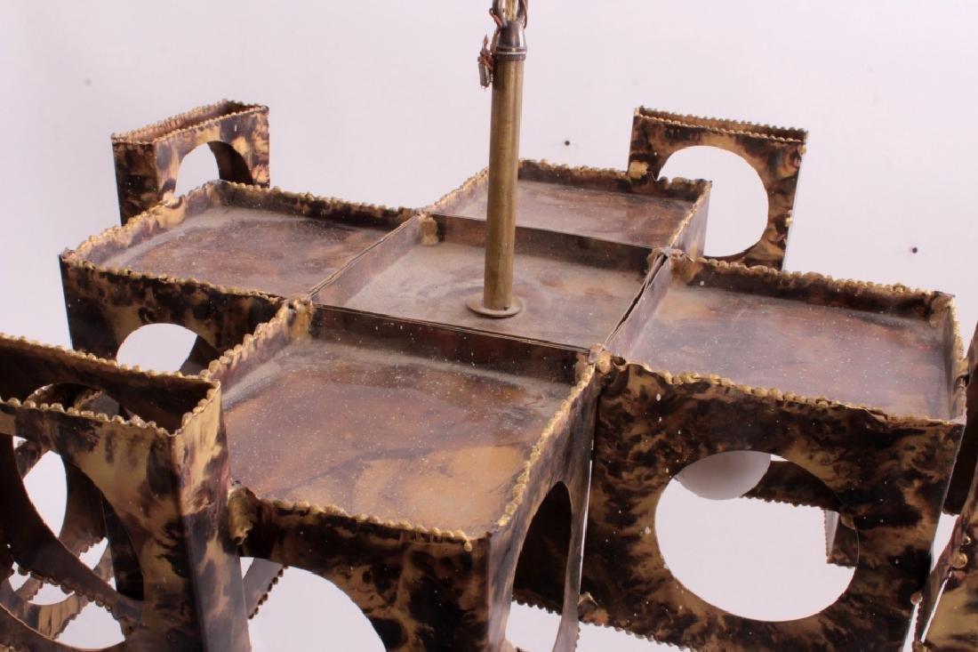 Tom Greene Brutalist Brass Chandelier for Feldman - 3