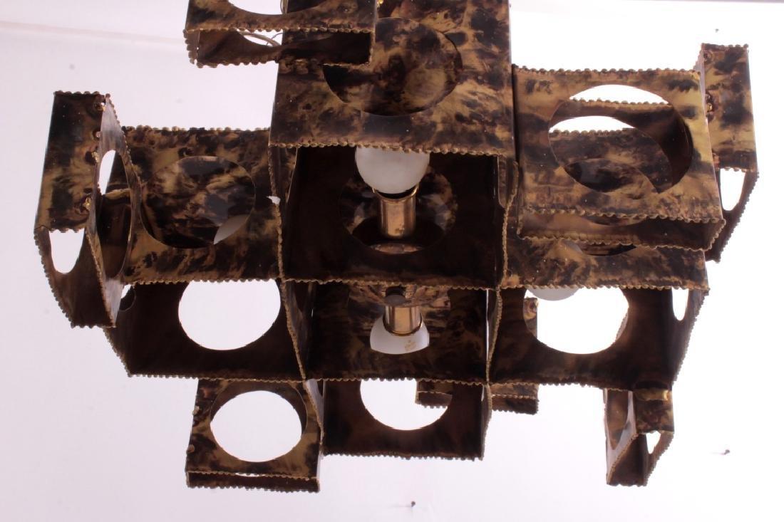 Tom Greene Brutalist Brass Chandelier for Feldman - 4