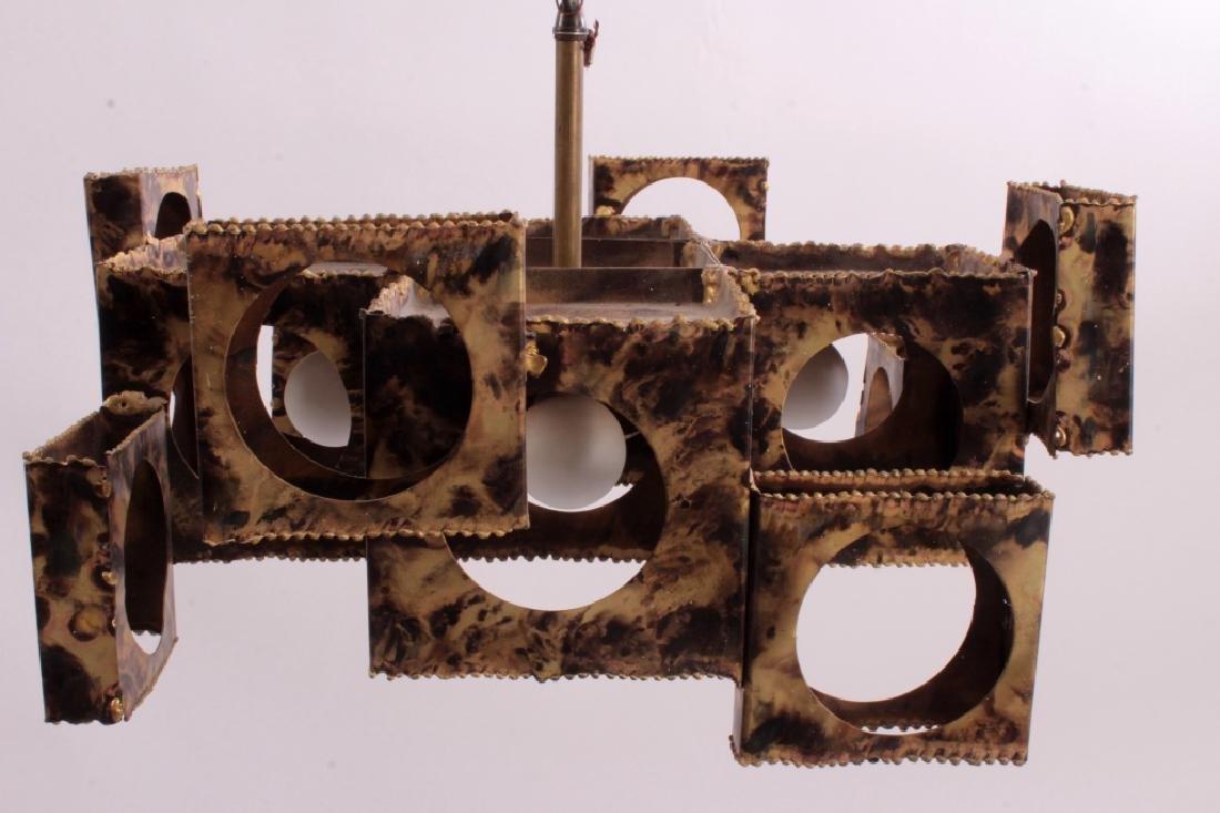 Tom Greene Brutalist Brass Chandelier for Feldman - 5