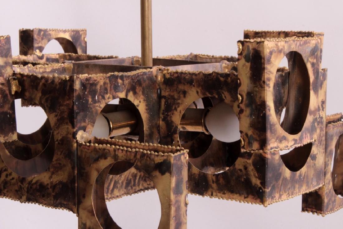 Tom Greene Brutalist Brass Chandelier for Feldman - 6