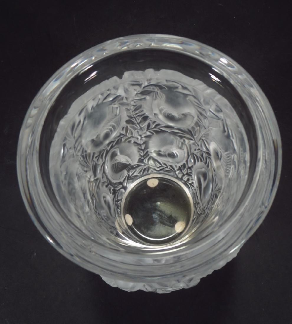 """Lalique """"Bagatelle"""" vase - 3"""