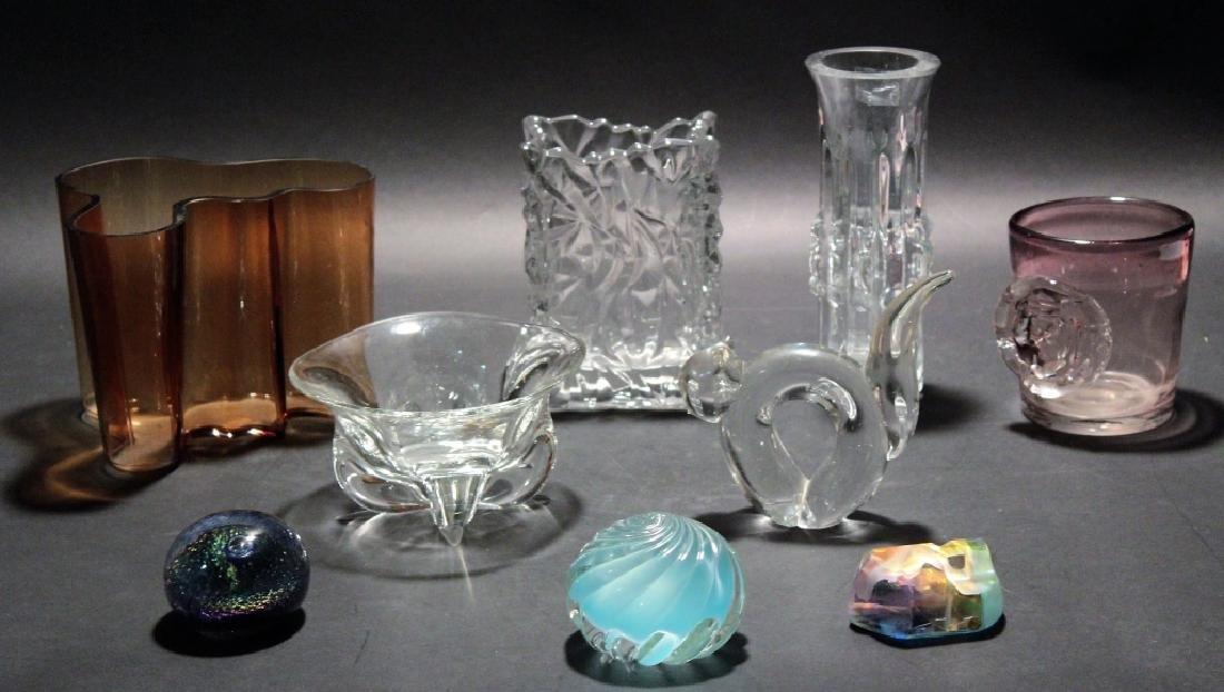 Lot 9 Modern Glassware & Paperweights inc. Aalto