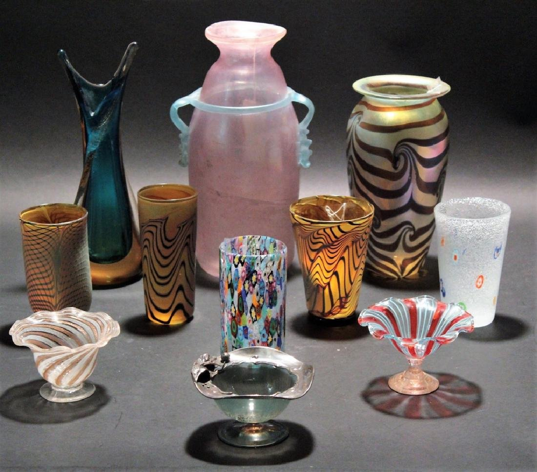 11 Contemporary Art Glass 3 pcs of Zweifel 20th c.