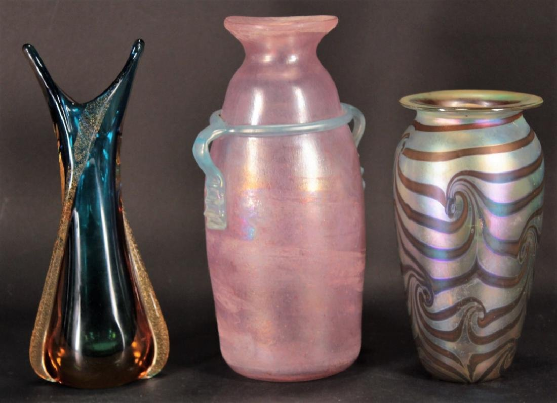 11 Contemporary Art Glass 3 pcs of Zweifel 20th c. - 2