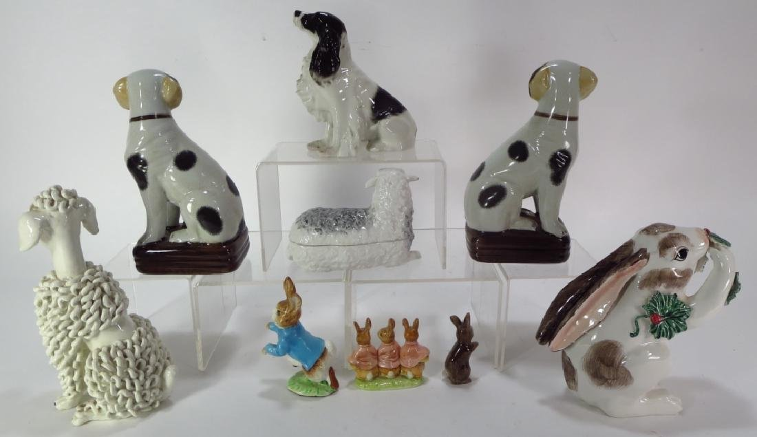 Group of 9 Pottery Animal Figures - 2