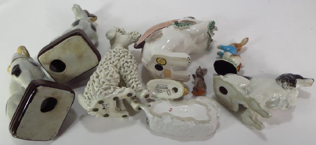 Group of 9 Pottery Animal Figures - 6