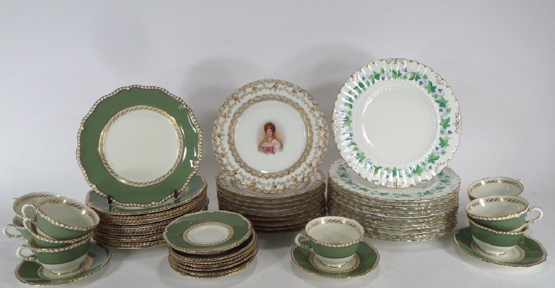 English and French porcelain lot