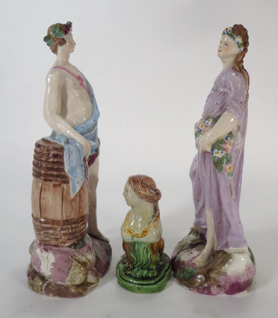 Three Staffordshire Figures, one a Sphinx, 19th c. - 3