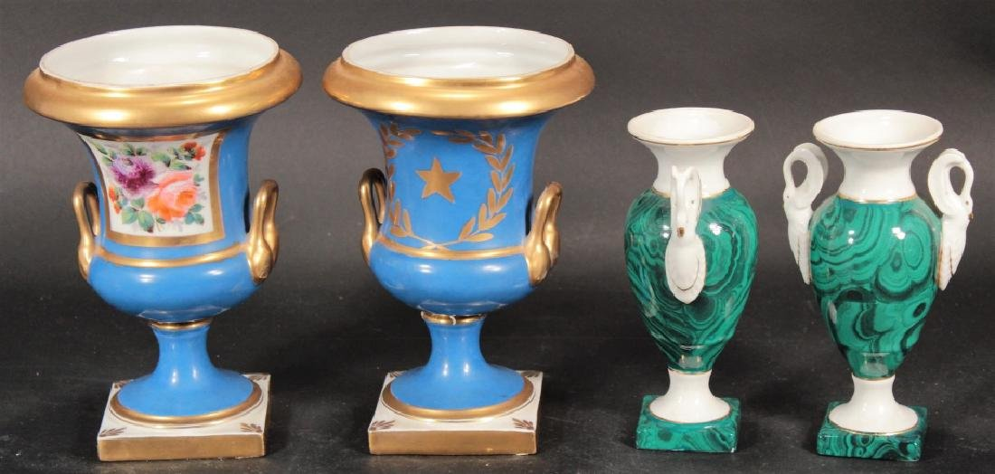 Group of French Porcelain incl. Urns & Jardinieres - 2
