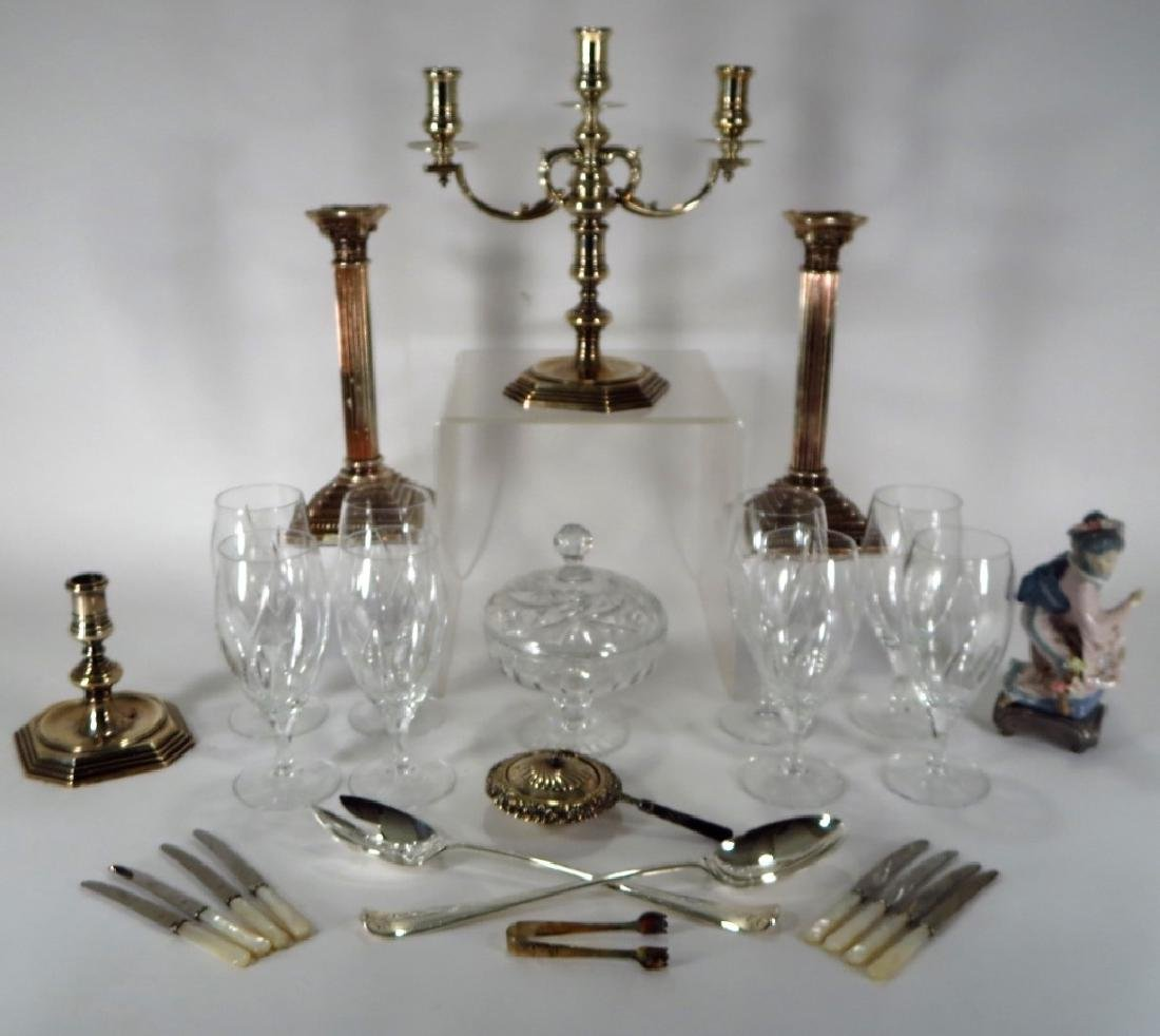 Mixed Silverplate and Crystal Group