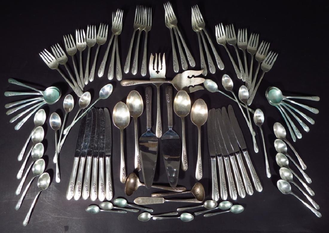 """106 pc. Sterling service for 12 """"Blossom Time"""" etc"""
