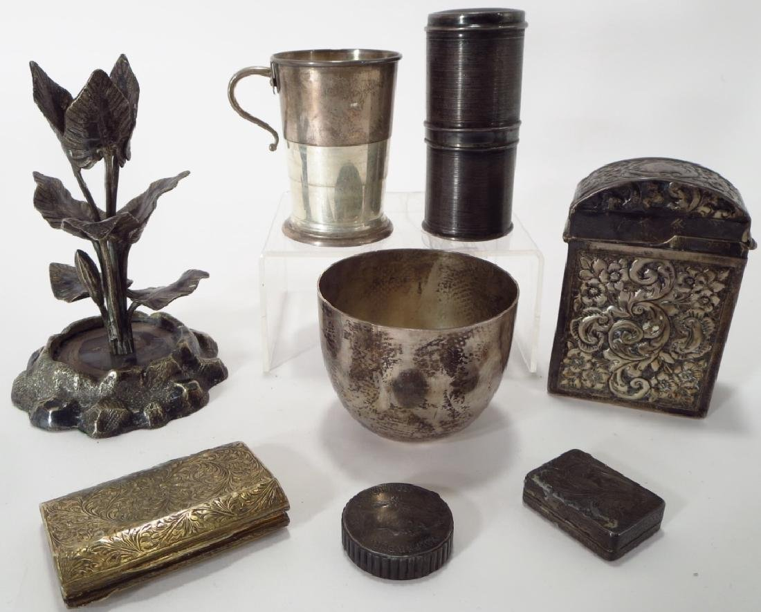 8 silver and silverplate articles