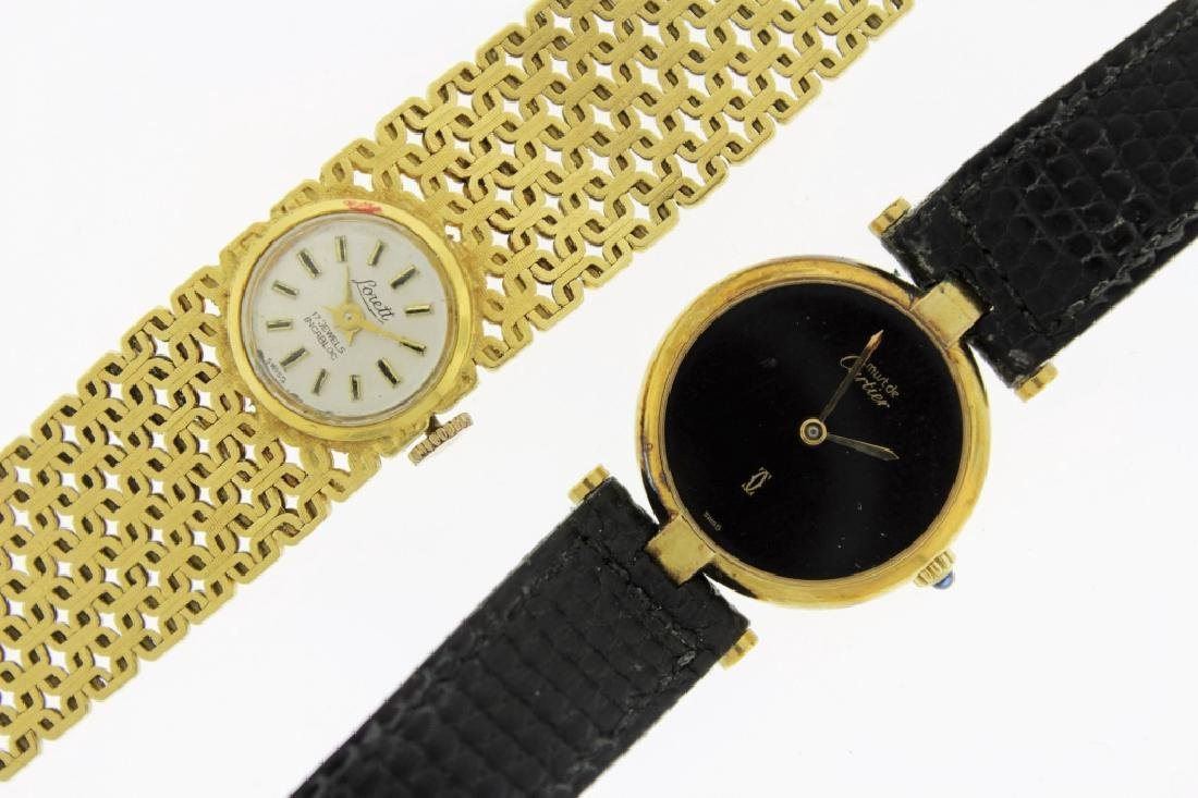 2 Wristwatches, 18K and Cartier