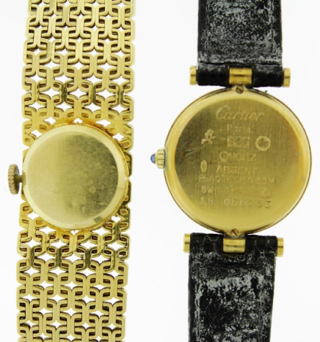 2 Wristwatches, 18K and Cartier - 5