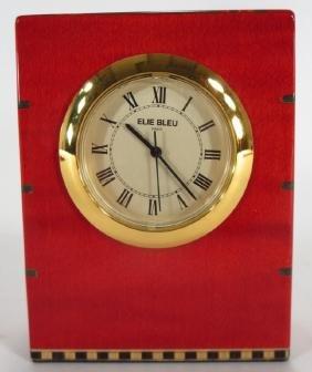 Elie Bleu Marquetry Clock