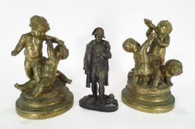 3 Bronze sculptures, inc. Napoleon