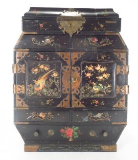 Japanese Lacquer Jewelry Box Cabinet C.1920