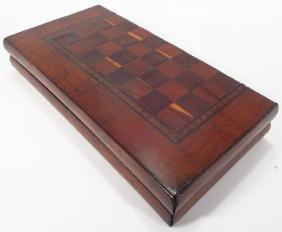 Irish Killarney Arbutus Wood  Chess Board, c. 1850