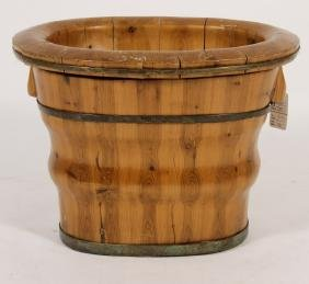 Japanese Wood Basin w Inset, 19th C.
