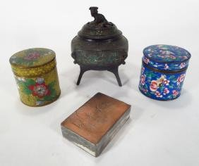 4 Asian Metal Objects