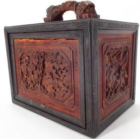 Carved Chinese Mahjong box