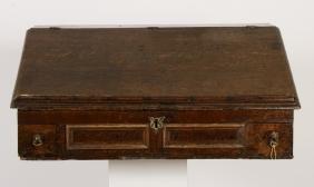 George I Oak Table-Top Bureau, c. 1710