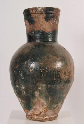 Parthian Glazed Storage Amphora, Persia, 200 BC/AD