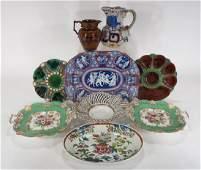 Lot of 9 English Ceramics Minton Wedgwood etc 19th