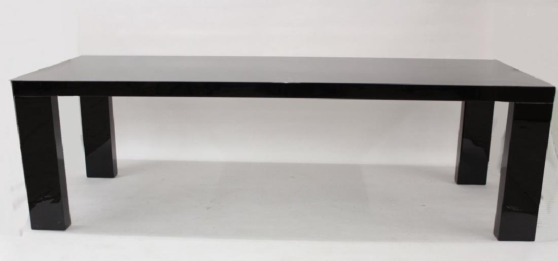 Piero Lissoni Large Black Lacquer Dining Table