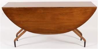 Greta Grossman Walnut Spider Dining Table