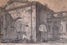 Lot of 2 G. B. Piranesi It. 1720-1778 Engravings
