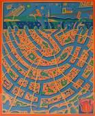 Risoburo Kimura b.1924 Amsterdam Serigraph