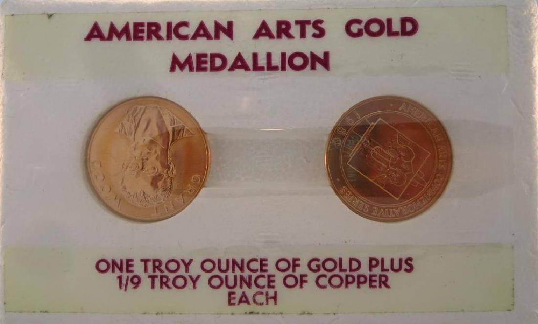 1 Troy Ounce Gold .900 Grant Wood Medallion - US Treas.