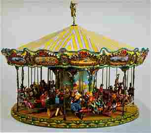 """Red Grooms, Am, """"Fox Trot Carousel"""", Working Model"""