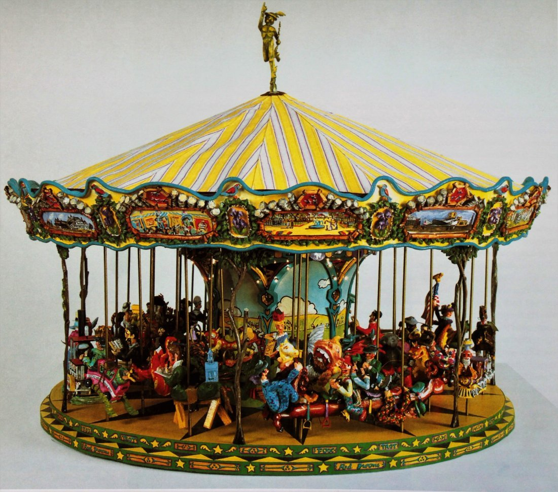 "Red Grooms, Am, ""Fox Trot Carousel"", Working Model"