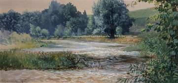 J. R. Brown, Am., 1863-1951, Stream. W/C