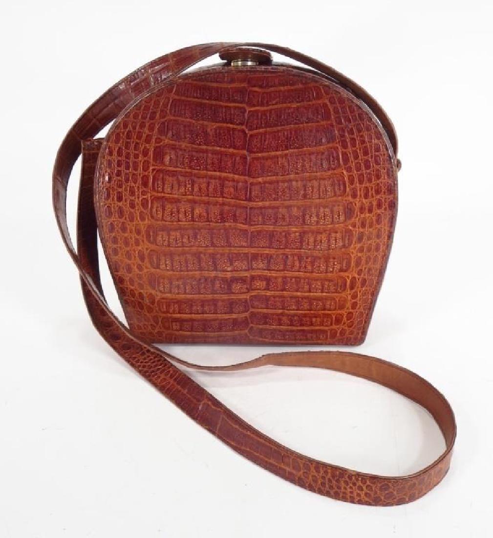 Maxima Alligator Box Handbag