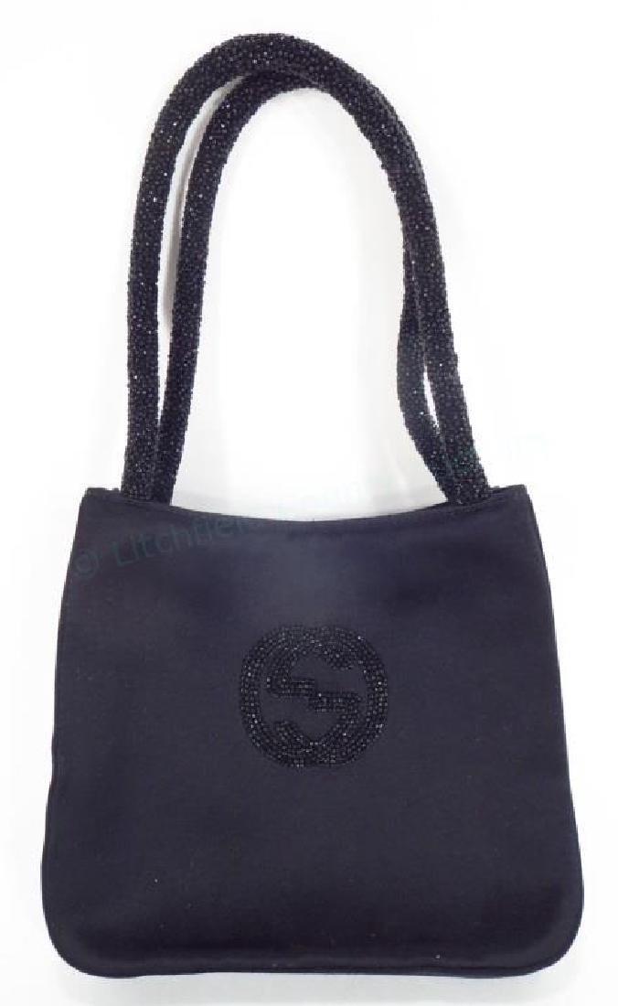 Gucci Satin & Beaded Evening Bag
