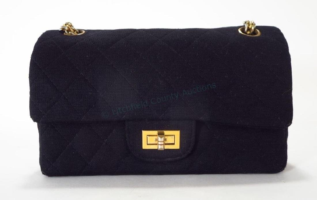 Vintage Chanel Black Quilted Flap Shoulder Bag