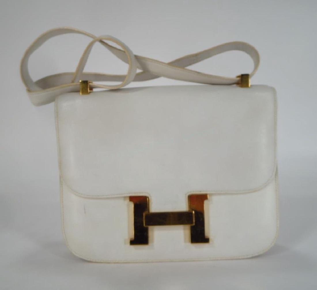 Hermes White Constance Bag