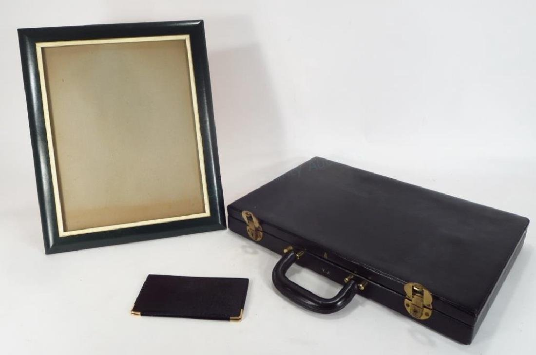 3 Mark Cross Leather Items