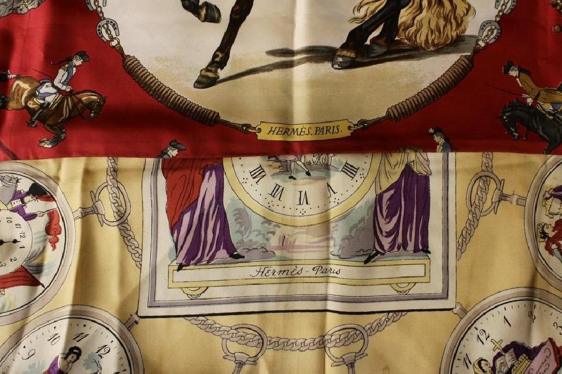 Hermes Silk Clock & Horse Scarves