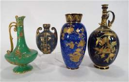 Four Royal Crown Derby Porcelain Vases & Ewers