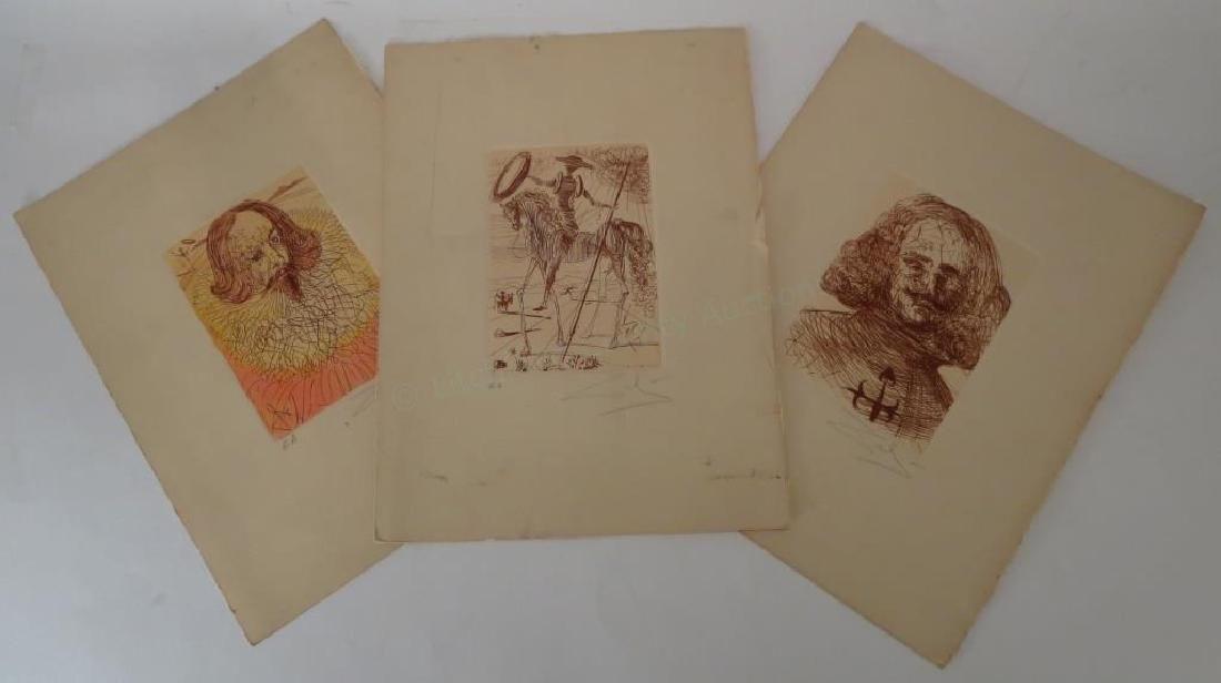 4 Salvador Dali Etchings Spanish Immortal Series